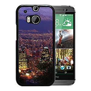 Beautiful And Durable Designed Case With Santiago Chile Black For HTC ONE M8 Phone Case