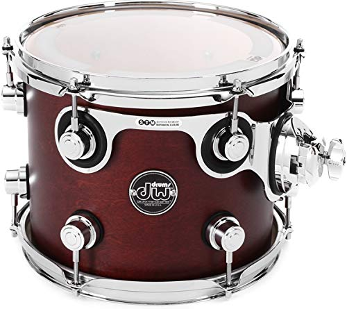 DW Performance Series Mounted Tom 8 Inches X 10 Inches Tobacco Satin Oil