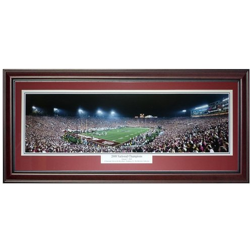 University of Alabama Crimson Tide (2009 National Champions) Deluxe Framed Panoramic Photo