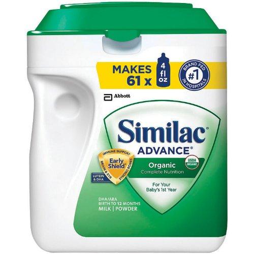 Similac Organic Earlyshield Baby Formula 3-pack;34 Oz.each
