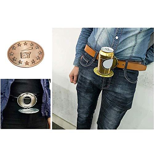 TTbuy Water Bottle Belt Clip Holder Beer Head Belt Cans Buckle Cup Holder On Belt Portable Metal Belt Cup Holder Beer Drink Cup Holder Fish (Gold C) (Bottle Holder Belt Buckle)