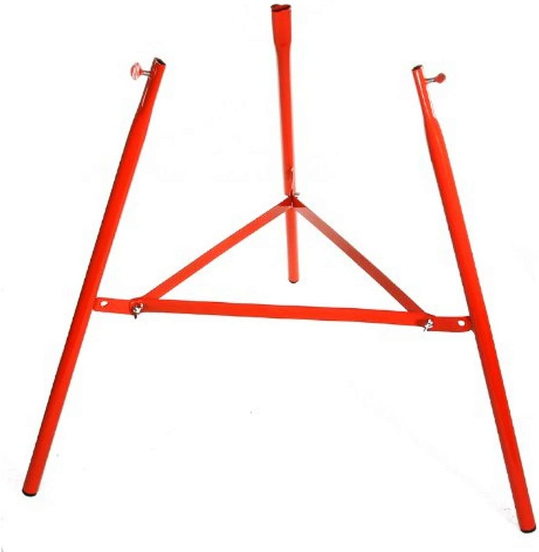 Estructura roja para quemador de gas.