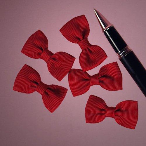 Mini Bow Tie - Red Grosgrain Bowties, 1-5/8