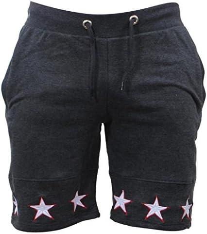 星柄 メンズ ショートパンツ 吸汗速乾 夏 スポーツウェア フィットネス パンツ 欧米 人気 スウェット ハーフパンツ ランニングショーツ トレーニングウエア 軽量 短パン