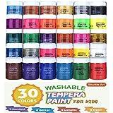 Tempera Paint, Shuttle Art 30 Colors Washable TemperaPaint Set for Kids, 2oz Bottles