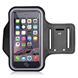 KuGi Samsung Galaxy S5 Neo Sports Armband, High quality Sports Armband with Key Holder Pocket For Samsung Galaxy S5 Neo and other same size phones, Fits Small to Large Arm Sizes.(Black)