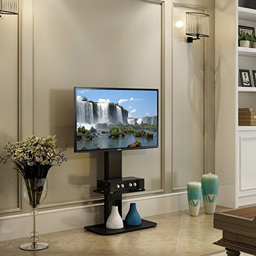 FITUEYES TV Stand with Swivel Mount for flat Screen