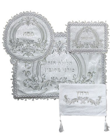 A&M Judaica 63192 Pasech Afikoman & Pillow Covers with Towel44; 4 Piece by A & M Judaica