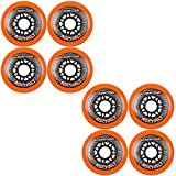 8 Labeda Gripper Asphalt Outdoor Roller Hockey Wheels - Orange 80mm