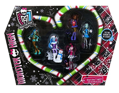 Monster High Howliday Figures 5 Pc Set: Clawdeen, Abbey, LaGoona, Frankie, and -