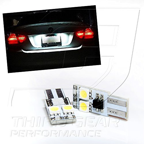TGP T10 White 4 LED SMD 5050 Side Wedge License Plate Light Bulbs Canbus Error Free 2002-2006 BMW 745i 745Li 750i 750Li