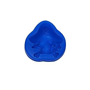 MN306: moldes de silicona para repostería con diseño de calavera pirata.