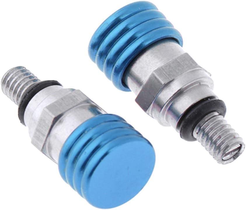 Blau M4x20mm Almencla 2er Pack Gabel-Entl/üfter Entl/üftungsschrauben Schrauben f/ür Motorrad Gabel