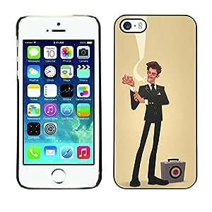 FlareStar Colour Printing Sir Businessman Yellow Sales Bulls Eye cáscara Funda Case Caso de plástico para Apple iPhone 5 / iPhone 5S
