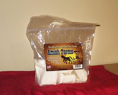 Amish Farms Quality Handmade Natural Bar Soap Pack of 6 Bags (30 Bars)