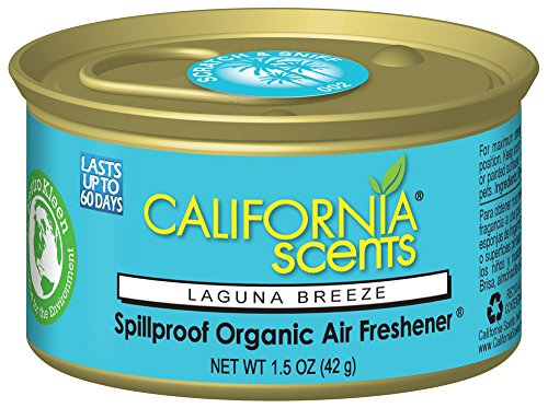 California Scents Spillproof Can Air Freshener Eco-Friendly Odor Neutralizer for Home, Car, Much More, Laguna Breeze, 1.5 oz, 12 Pack