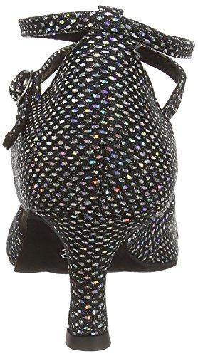Salon 077 Les De noir Latine De De Diamant Noir 141 De Chaussures De 183 Chaussures Dames Femmes Danse D'argent Hologramme Danse SAqrSp4a
