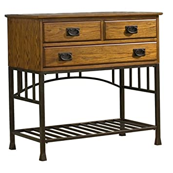 Home Styles 5050-61 Oak Hill Buffet Server - Distressed Oak Finish
