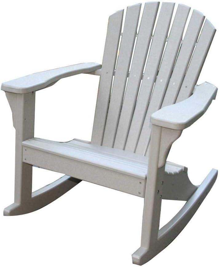 Amazon Com Perfect Choice Furniture Adirondack Rocking Chair White Patio Rocking Chairs Garden Outdoor