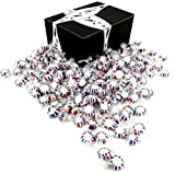 Patriotic Peppermint Starlights by Cuckoo Luckoo Confections, 2 lb Bag in a BlackTie Box