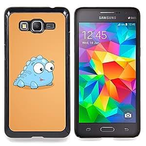 "Qstar Arte & diseño plástico duro Fundas Cover Cubre Hard Case Cover para Samsung Galaxy Grand Prime G530H / DS (Poco Luz Dinosaurio criatura azul Arte de la historieta"")"
