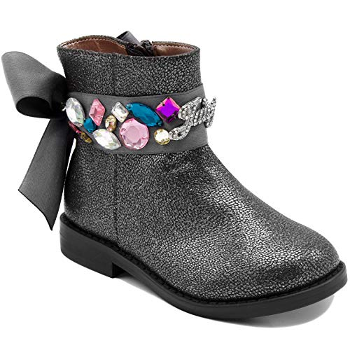 Juicy Pink Leather Couture (Juicy Couture Kids JC Lil Naples Girls Low Shaft Ankle Boot 5 Toddler)