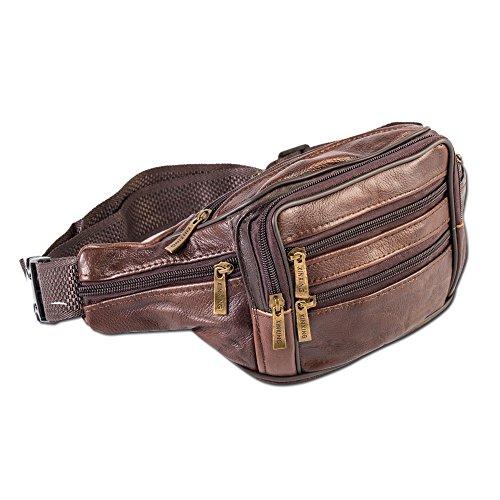 POSTEN 10 X Bauchtasche Gürteltasche Echtleder, Hüfttasche Waist Bag Echt Leder NEU