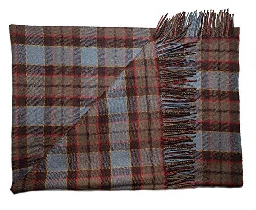 (OUTLANDER Blanket Premium Lambswool Tartan (FRASER))