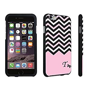 DuroCase ? Apple iPhone 6 Plus - 5.5 inch Hard Case Black - (Black Pink White Chevron T)