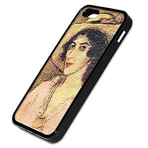 Joseph Rippl Ronai - Zorka, Custom Design Negro Caso Carcasa Funda Protección Tapa Case Cover con Diseño Colorido para Apple iPhone 5 5S.