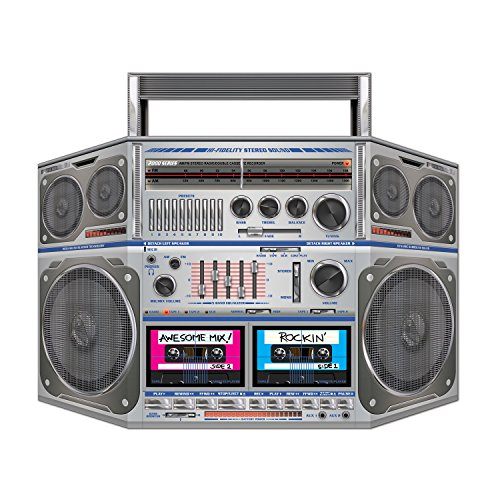 [Boom Box Stand-Up Party Accessory (1 count) (1/Pkg)] (Music Party Decorations)