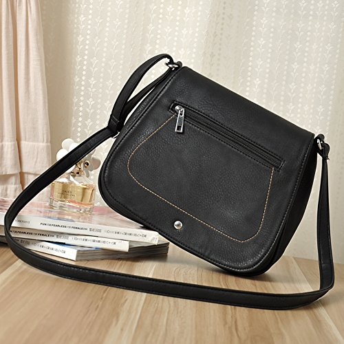 PU Leather Casual Women's Crossbody YingOnly Shoulder Purse Messenger Saddle Bag XqIO4S