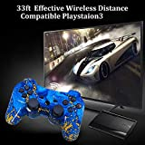CHENGDAO PS3 Controller Wireless 2 Pack Dual