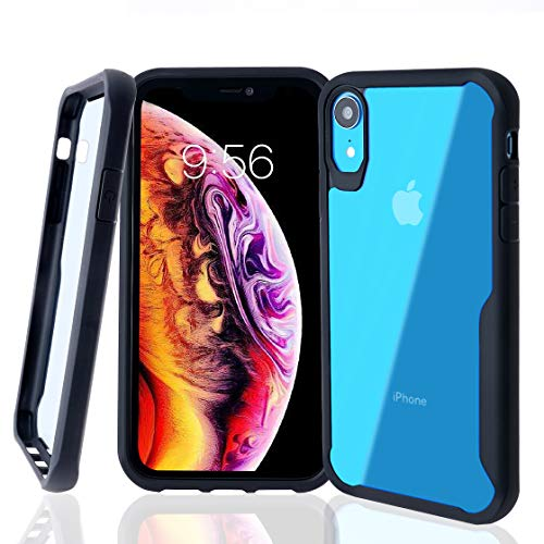 AnghuiLin iPhone XR Bumper Case - Hard Tough Slim Cover-Shock Protection-Clear Back Design for iPhone XR (2018) 6.1