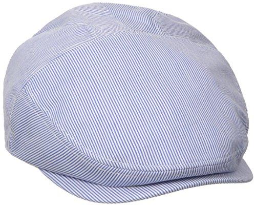 (Henschel Men's New Shape Pinstripe Ivy Hat, Gray/Blue, Medium)