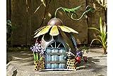 Fairy Sunflower House Garden Ornament Elf Metal Home Sculpture Indoor Outdoor Decor NEW (Fairy Sunflower House)