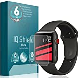 Apple Watch Screen Protector (42mm Series 3/2/1 Compatible)(6-Pack), IQ Shield Matte Full Coverage Anti-Glare Screen Protector for Apple Watch (Bubble-Free Film