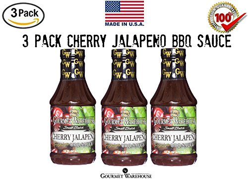 (Gourmet Warehouse Cherry Jalapeno Barbecue Sauce - 3 Pack)