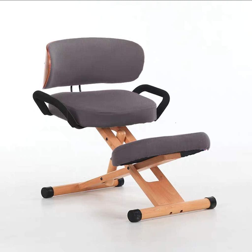 WXX Silla arrodillada con Asiento ortopédico para el Dolor de Espalda - Ajuste Manual, Silla arrodillada para una Mejor Postura, Ayuda a prevenir el Dolor del coxis,C