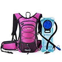 Miracol Hydration Backpack with 2L Water Bladder, Thermal Insulation Pack and Bladder Keeps Liquid Cool up to 4 Hours, Multiple Storage Compartment, Best Outdoor Gear for Skiing, Hiking and Cycling …