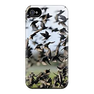 Cute Appearance Cover/tpu MXeEoyg3142XpwUs A Flock Of Starlings Case For Iphone 4/4s