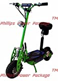 Super Cycles & Scooters - Super Turbo 1000-Elite, 36V Electric Scooter, 2-Wheel, Neon Green - PHILLIPS POWER PACKAGE TM - TO $500 VALUE