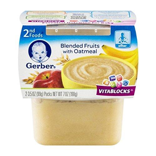 GERBER Foods Blended Fruits Oatmeal