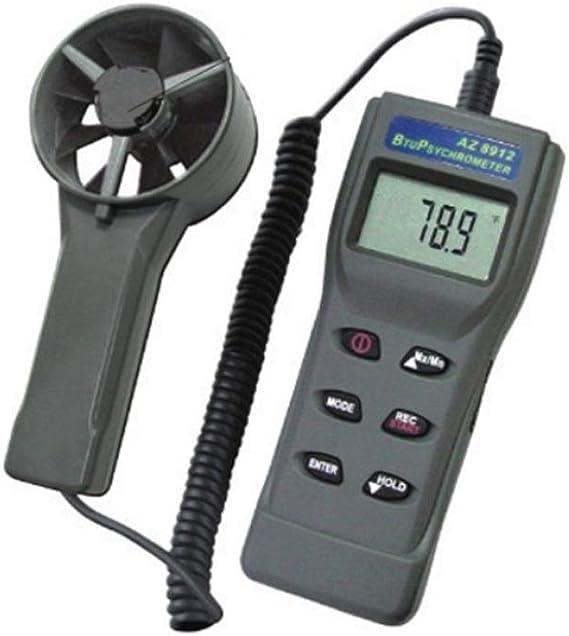 LONGJUAN-C Windmeter Multi-function Anemometer Illuminance Meter Altitude Ambient Light Meter Wind Speed Humidity Dew Point Wind Speed Anemometer Wind Chill