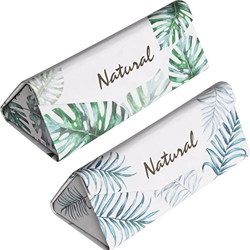 Eyeglasses Pouch 2PACK foldable Sunglasses bag Triangular shape spectacle pouch with Cleaning Cloth by Monimo