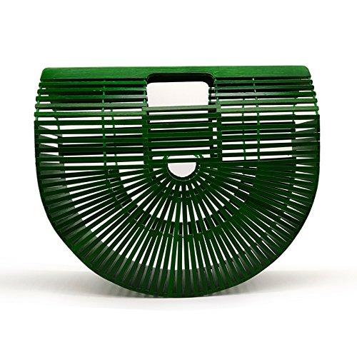 Bamboo Bag Wooden Purses And Handbags Women Clutch Hollow Out Woven Beach Bags For Women Summer Luxury Designer Bamboo Handbag