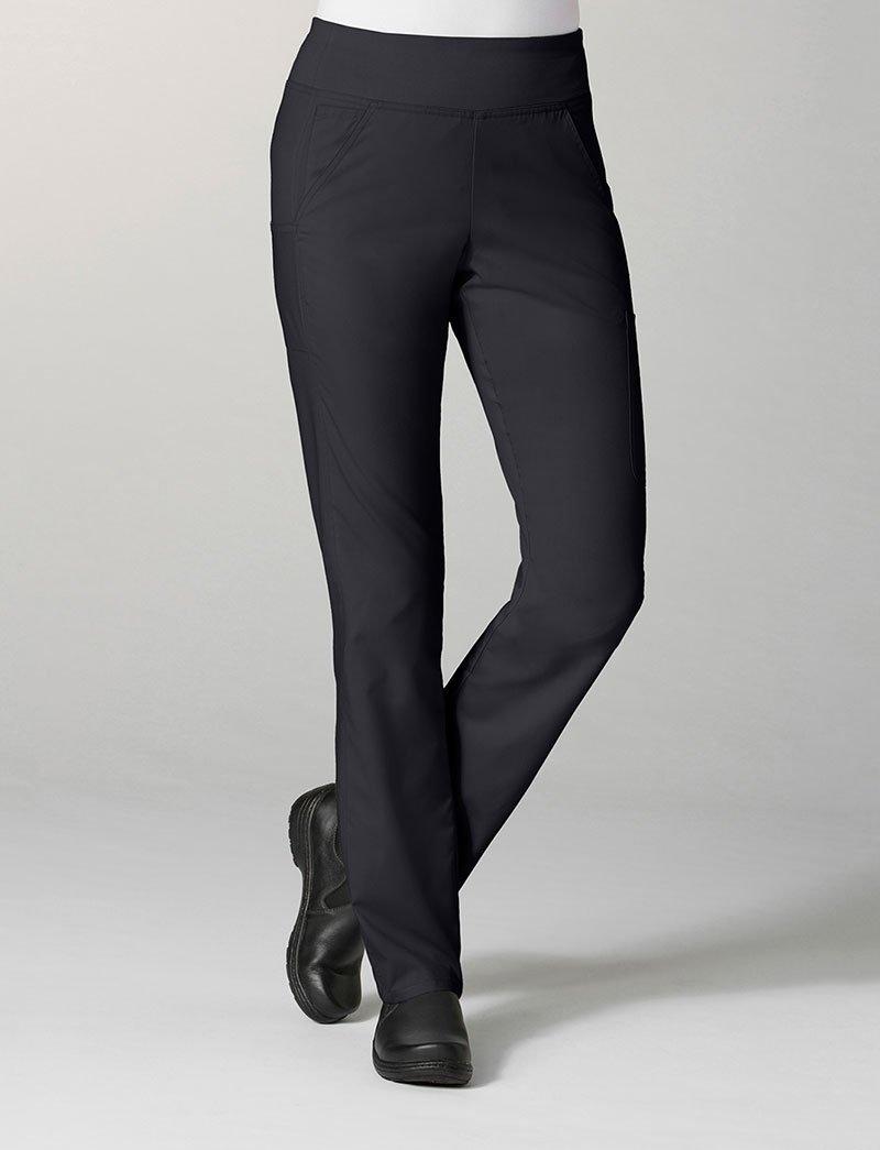 Maevn Women's EON Pure Yoga 7-Pocket Scrub Pant, Black, X-Large