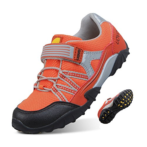 UOVO Boys Shoes Boys Running Sneakers Tennis Hiking Shoes Kids Athletic Outdoor Fashion Sneakers Slip Resistant (Toddler/Little Boys) (13.5 M US Little Kid, Orange-5)