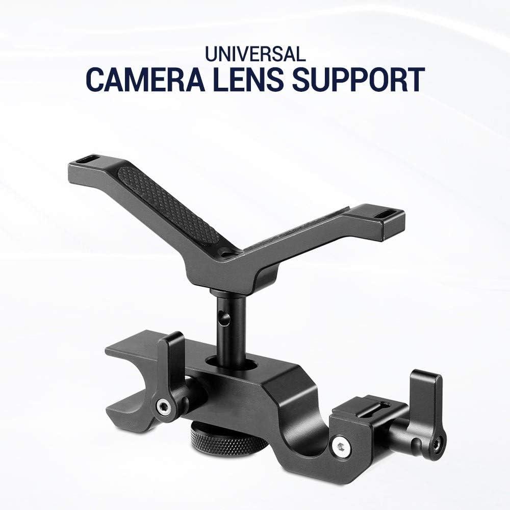 XIANYUNDIAN Black Adjustable DSLR Camera Rig 15mm LWS Universal Lens Support for Follow Focus Camera Mounts Clamps