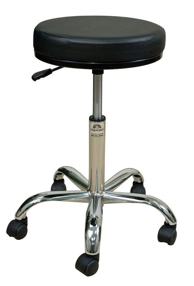 Oakworks 60389-T01 Professional Stool High, Coal Upholstery by Oakworks